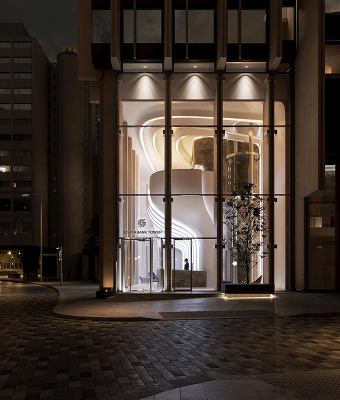Southbank Tower Lobby by Zaha Hadid Architects