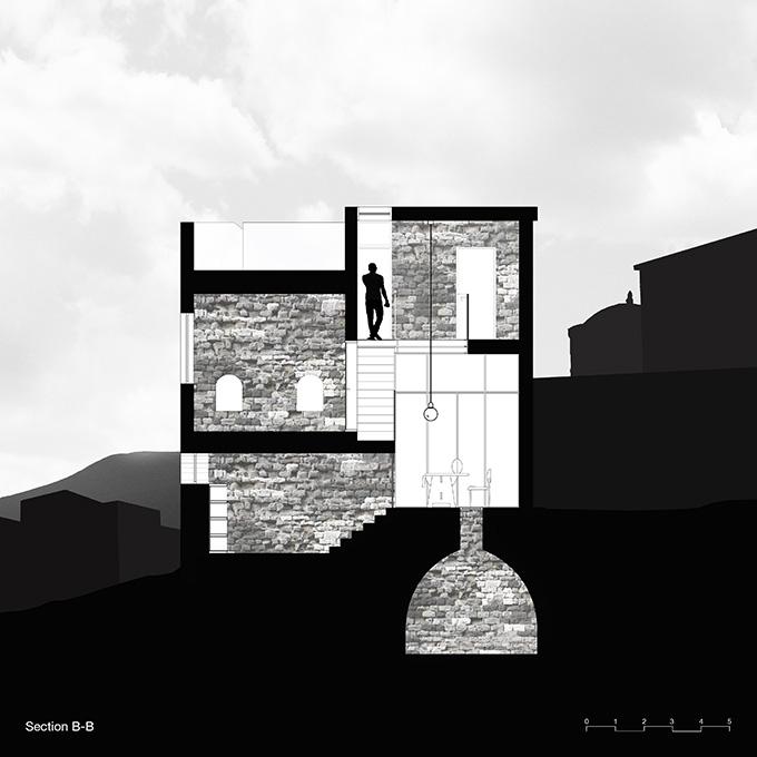 Vertical Stone House by HENKIN SHAVIT Architecture & Design
