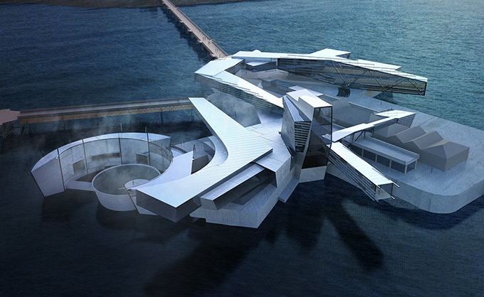 Birnbeck Island by Matteo Cainer Architecture at the III Architecture Pisa Biennale
