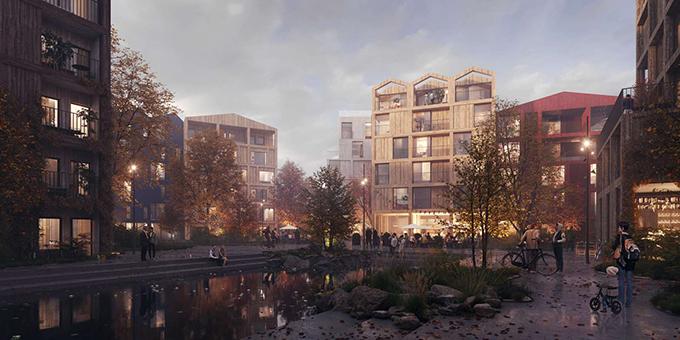 Fælledby masterplan by Henning Larsen - Archiscene