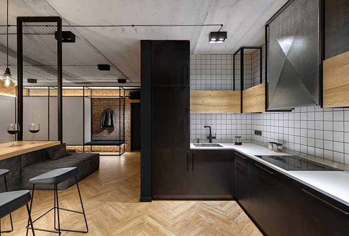 Loft Apartment in Kharkiv by Bondarenko Design