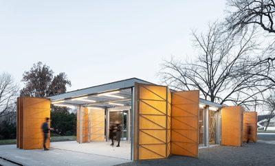 Summer Pavilion in Prague by PAPUNDEKL Architects