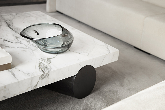 custom marble coffee table