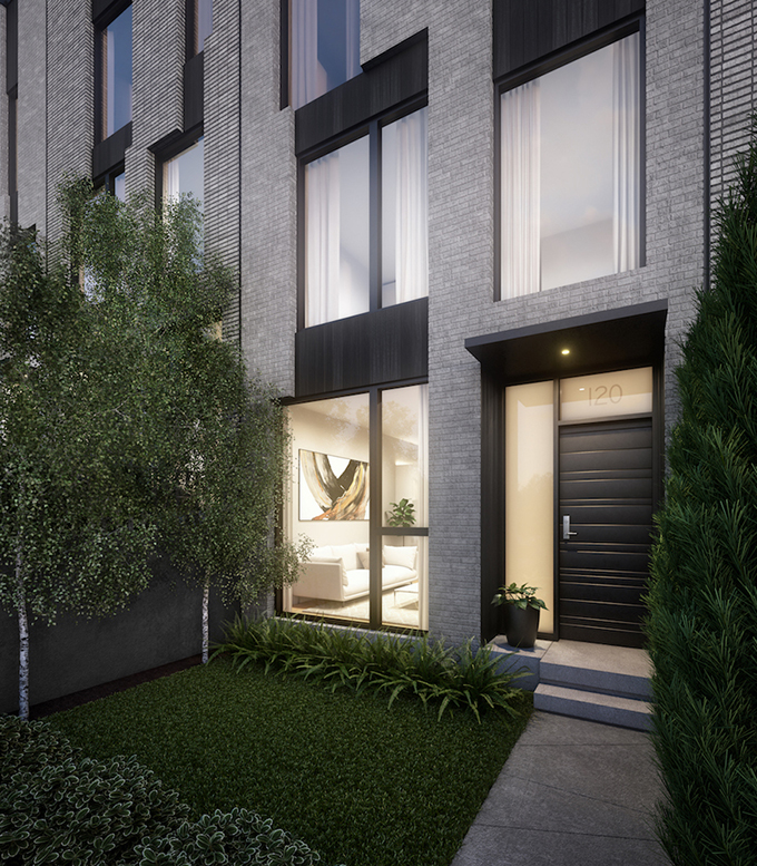 Burrows Street Townhouses by Interface Studio Architects
