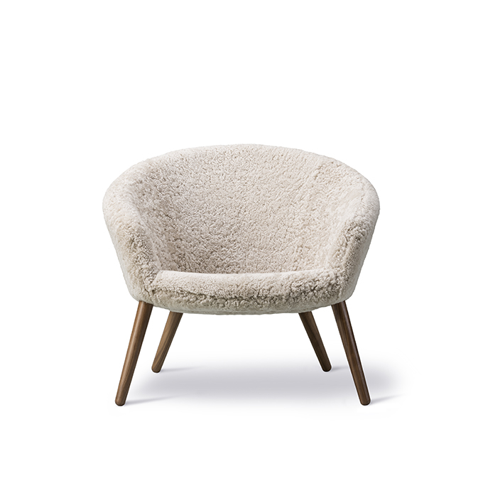 Ditzel Lounge Chair Sheepskin Edition by Nanna Ditzel for Fredericia