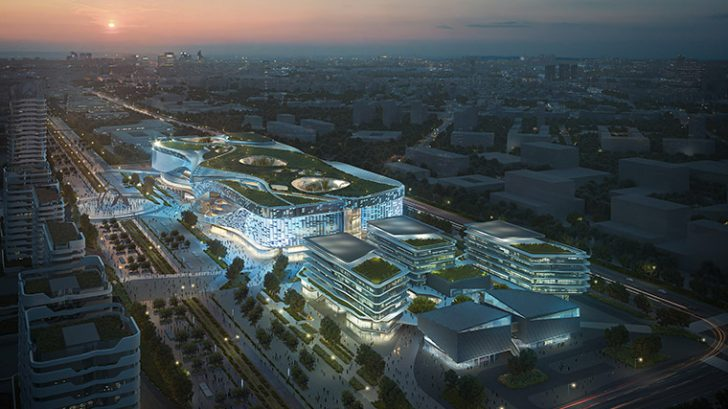 China Fortune's Nanjing Dajiaochang Airport Mixed Use Development by 10 Design