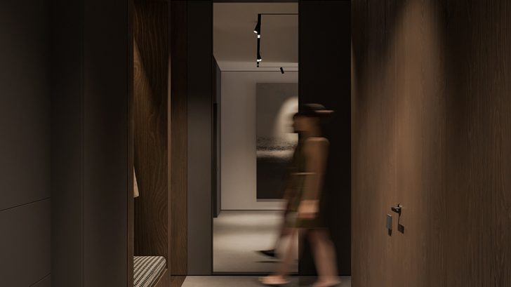 Graphite Apartment by Bezmirno Architects
