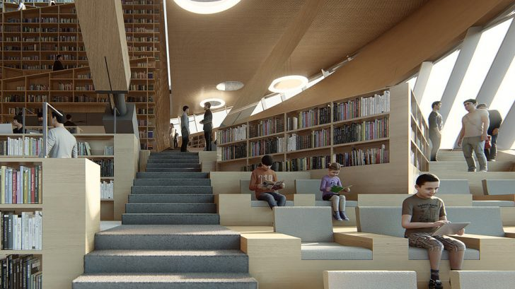 The Library of SONGDO International City by aoe