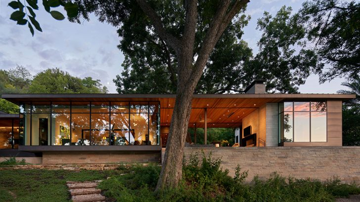 Lake Austin Home with a Hexagon View by LaRue Architects/Britt Design Group
