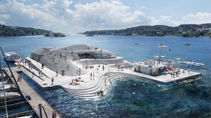 Discover Snøhetta's Reconstruction of the Historic Norwegian Harbour Bath Knubben