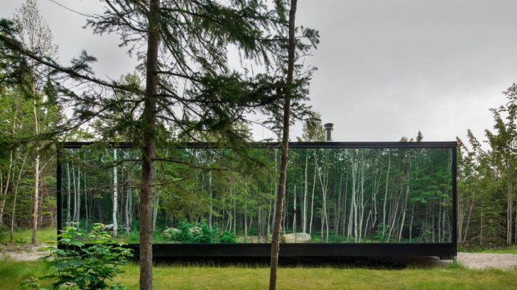 Discover the Forest Glamp Project designed by Bourgeois / Lechasseur architects