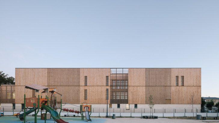 Simone de Beauvoir School – Wooden school by Bond Society + Daudré-Vignier & Associés